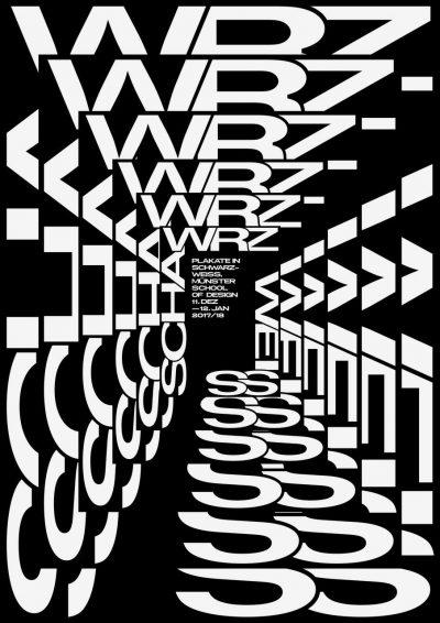 Plakate in Schwarz-Weiß